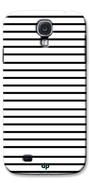 Digiprints Black Horizontal Strips Designer Printed Back Case Cover For Samsung Galaxy S4