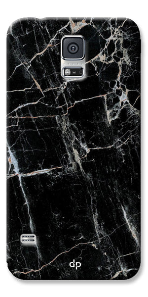 Digiprints Black Marble Design 2 Printed Designer Back Case Cover For Samsung Galaxy S5