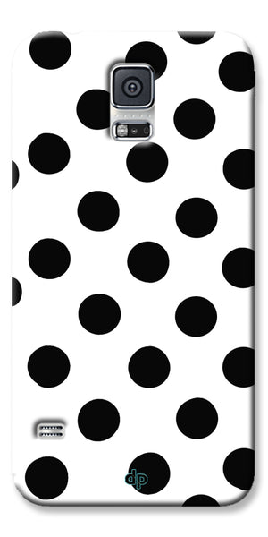 Digiprints Black Polka Dots Printed Back Case Cover For Samsung Galaxy S5
