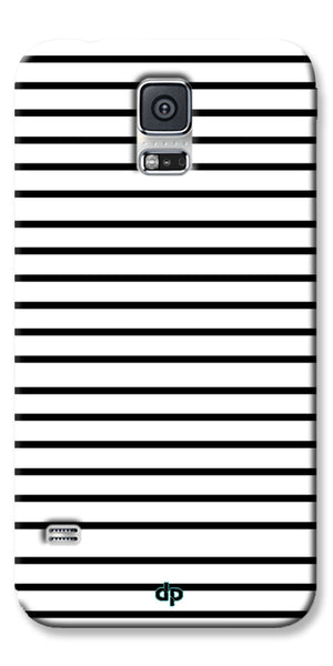 Digiprints Black Horizontal Strips Designer Printed Back Case Cover For Samsung Galaxy S5