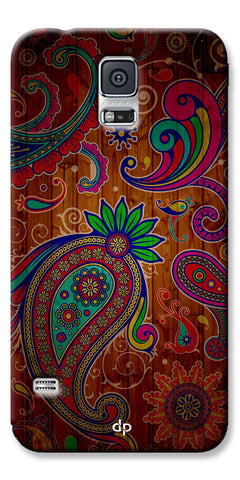 Digiprints Ethnic Wooden Art Back Case For Samsung Galaxy S5