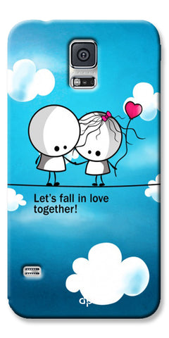 Digiprints Let'S Fall In Love Together Back Case Cover For Samsung Galaxy S5