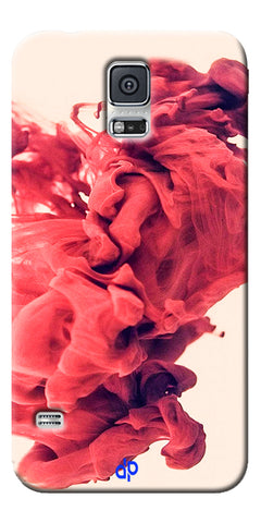 Digiprints Abstract Red Smoke Cloud Printed Designer Back Case Cover For Samsung Galaxy S5