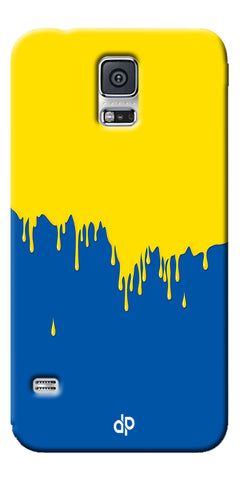 Digiprints dripping paint Printed Designer Back Case Cover For Samsung Galaxy S5