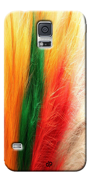 Digiprints colorful feathers design Printed Designer Back Case Cover For Samsung Galaxy S5