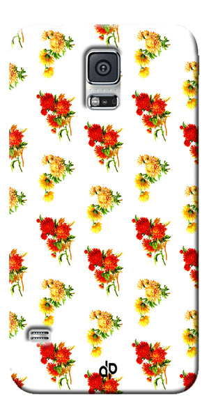 Digiprints flower background Printed Designer Back Case Cover For Samsung Galaxy S5