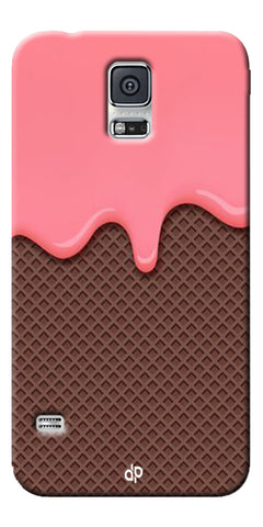 Digiprints Pink Melting Ice Cream Printed Designer Back Case Cover For Samsung Galaxy S5