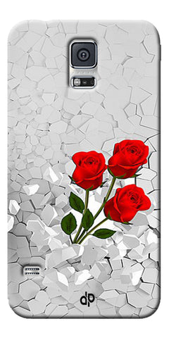 Digiprints Love rose background Printed Designer Back Case Cover For Samsung Galaxy S5