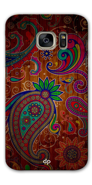 Digiprints Ethnic Wooden Art Back Case For Samsung Galaxy S7