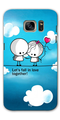 Digiprints Let'S Fall In Love Together Back Case Cover For Samsung Galaxy S7