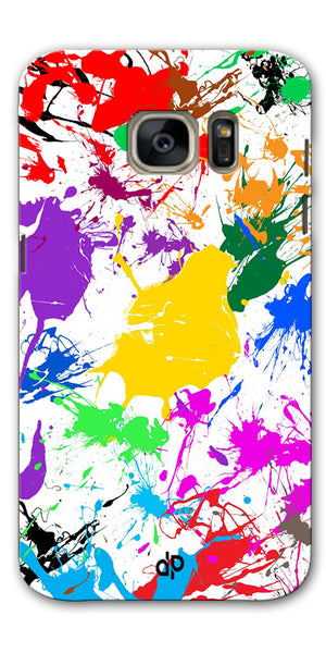 Digiprints  paint splash Printed Designer Back Case Cover For Samsung Galaxy S7