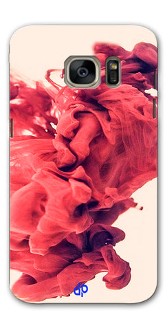 Digiprints Abstract Red Smoke Cloud Printed Designer Back Case Cover For Samsung Galaxy S7