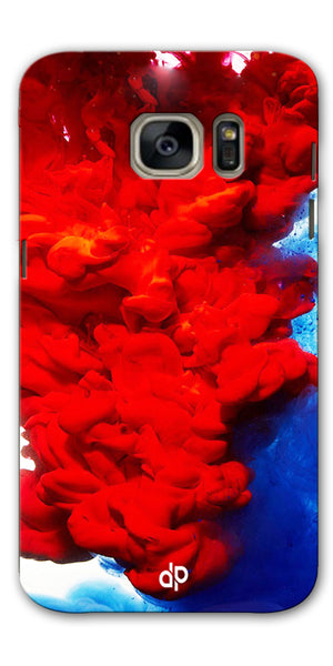 Digiprints Color Flow Printed Designer Back Case Cover For Samsung Galaxy S7