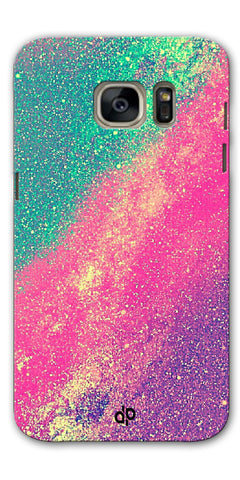 Digiprints glitter background Printed Designer Back Case Cover For Samsung Galaxy S7