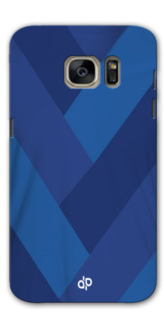 Digiprints cobalt blue back ground Printed Designer Back Case Cover For Samsung Galaxy S7
