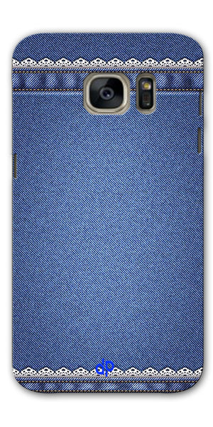 Digiprints cobalt blue Printed Designer Back Case Cover For Samsung Galaxy S7