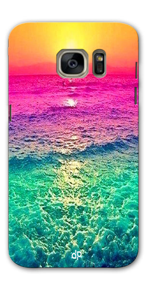 Digiprints Sunset Printed Designer Back Case Cover For Samsung Galaxy S7