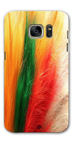 Digiprints colorful feathers design Printed Designer Back Case Cover For Samsung Galaxy S7