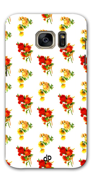 Digiprints flower background Printed Designer Back Case Cover For Samsung Galaxy S7