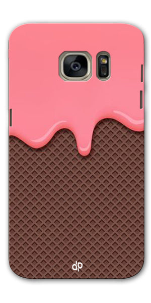 Digiprints Pink Melting Ice Cream Printed Designer Back Case Cover For Samsung Galaxy S7