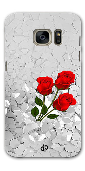 Digiprints Love rose background Printed Designer Back Case Cover For Samsung Galaxy S7