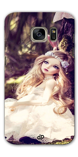 Digiprints Cute doll wallpape Printed Designer Back Case Cover For Samsung Galaxy S7