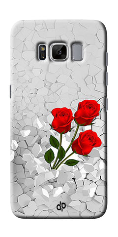 Digiprints Love rose background Printed Designer Back Case Cover For Samsung Galaxy S8