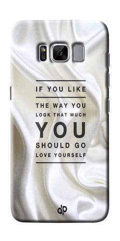 Digiprints Love Yourself Quotes Printed Designer Back Case Cover For Samsung Galaxy S8