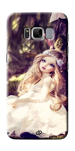 Digiprints Cute doll wallpape Printed Designer Back Case Cover For Samsung Galaxy S8