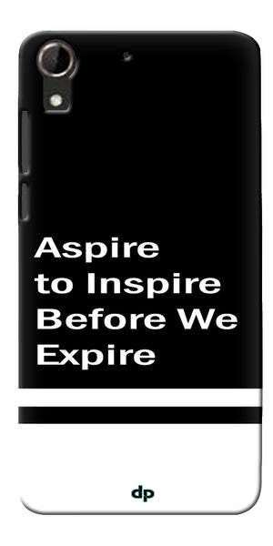 Digiprints Aspire To Inspire Printed Back Case Cover For HTC Desire 728