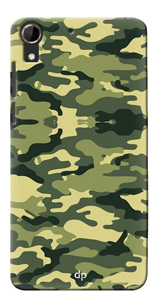 Digiprints Army Pattern Back Case Cover For HTC Desire 728