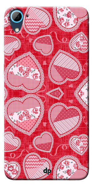 Digiprints Beautiful Pink Heart Design Printed Back Case Cover ForHTC Desire 826