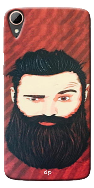 Digiprints Beard Man Printed Design Back Case Cover For HTC Desire 828