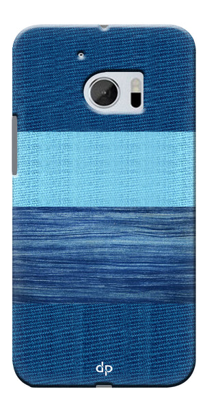 Digiprints Big Blue Denim Pattern Back Case Cover For HTC 10