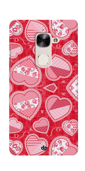Digiprints Beautiful Pink Heart Design Printed Back Case Cover For LeEco Le 2
