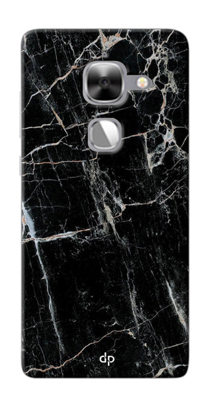 Digiprints Black Marble Design 2 Printed Designer Back Case Cover For LeEco Le Max 2