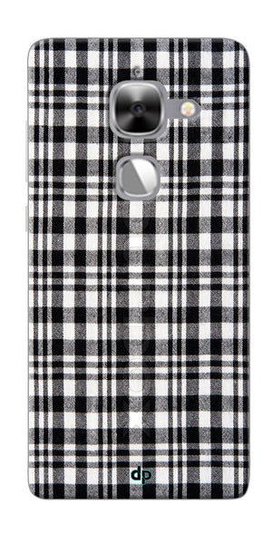 Digiprints Black Checks Printed Designer Back Case Cover For LeEco Le Max 2
