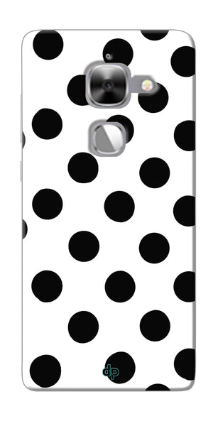 Digiprints Black Polka Dots Printed Back Case Cover For LeEco Le Max 2