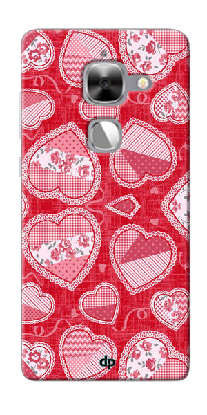 Digiprints Beautiful Pink Heart Design Printed Back Case Cover For LeEco Le Max 2