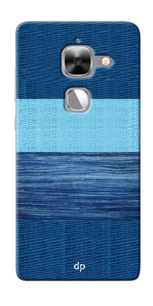 Digiprints Big Blue Denim Pattern Back Case Cover For LeEco Le Max 2