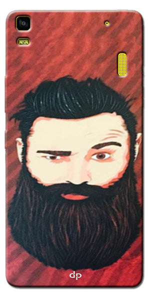 Digiprints Beard Man Printed Design Back Case Cover For Lenovo K3 Note