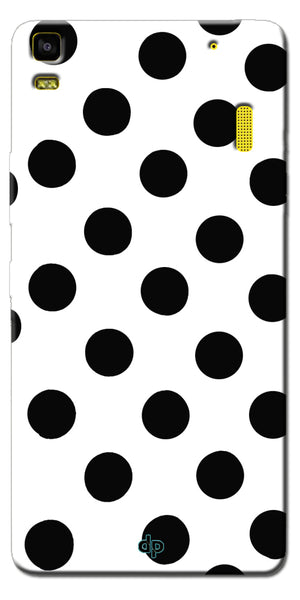 Digiprints Black Polka Dots Printed Back Case Cover For Lenovo K3 Note