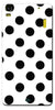 Digiprints Black Polka Dots Printed Back Case Cover For Lenovo A7000