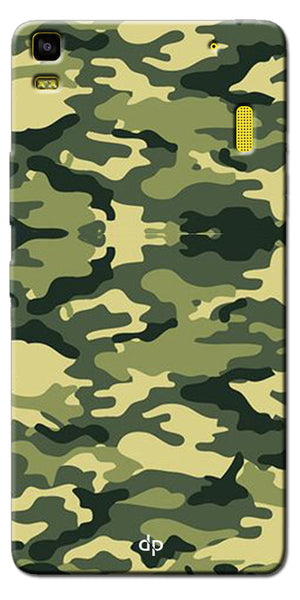 Digiprints Army Pattern Back Case Cover For Lenovo A7000
