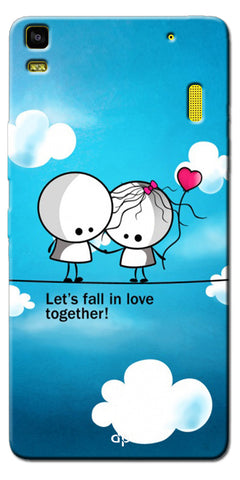 Digiprints Let'S Fall In Love Together Back Case Cover For Lenovo K3 Note