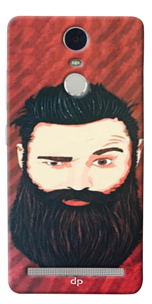 Digiprints Beard Man Printed Design Back Case Cover For Lenovo K5 Note