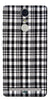 Digiprints Black Checks Printed Designer Back Case Cover For Lenovo K5 Note