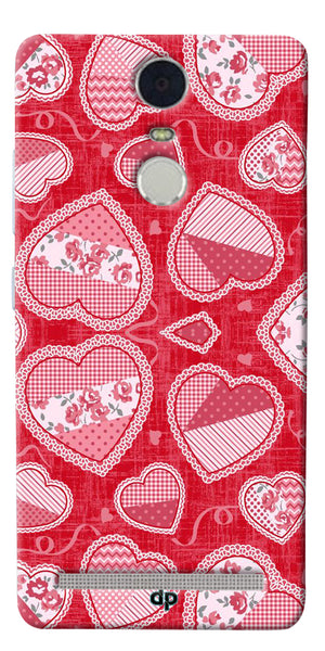 Digiprints Beautiful Pink Heart Design Printed Back Case Cover For Lenovo K5 Note