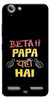 Digiprints Beta Papa Yaha Hai Printed Designer Back Case Cover For Lenovo K5 Plus