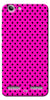 Digiprints Black Dotted Design Pink Printed Back Case Cover For Lenovo K5 Plus